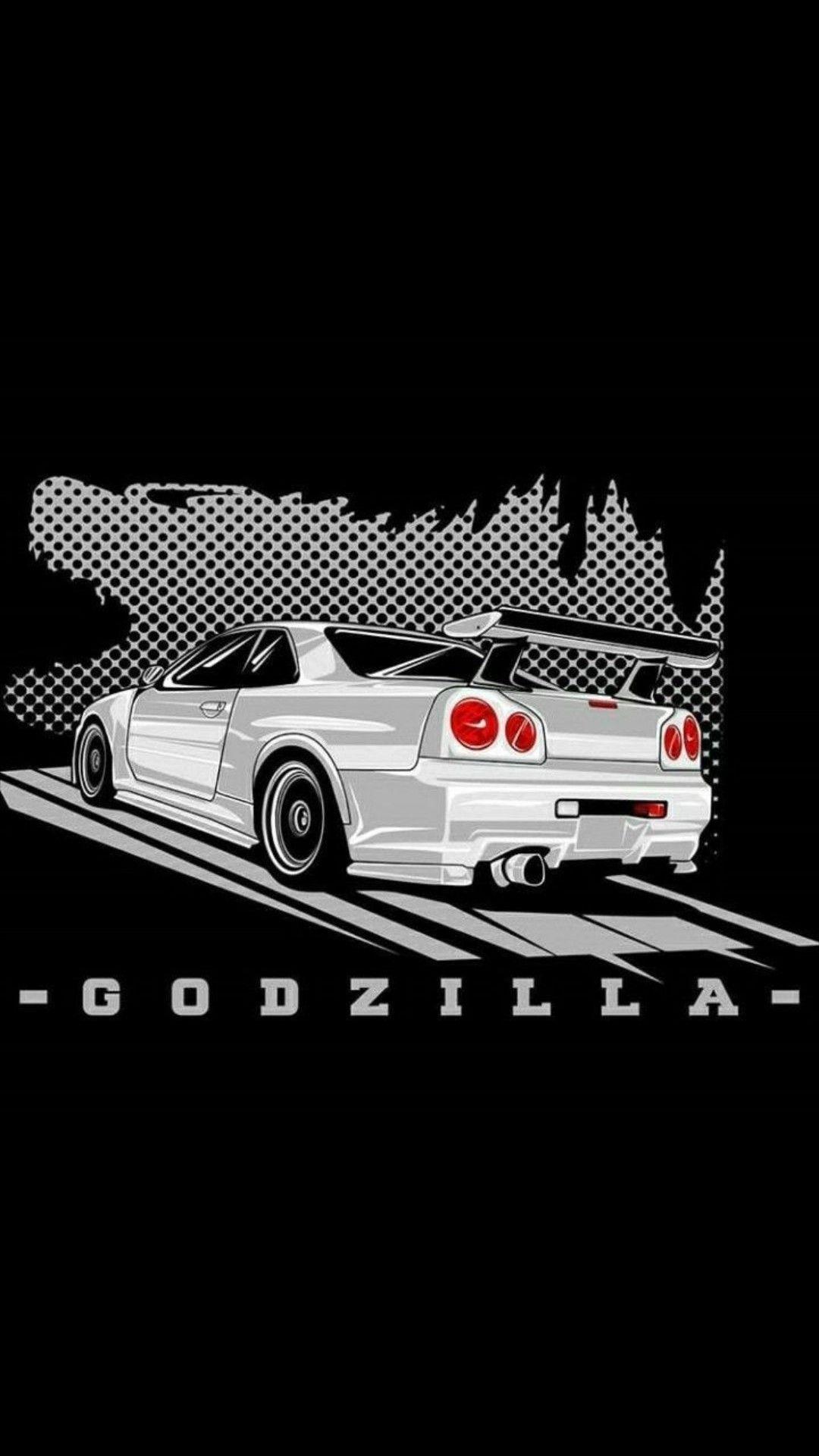 Nissan Skyline Gtr R34 Godzilla 1080x1920 Wallpaper Teahub Io