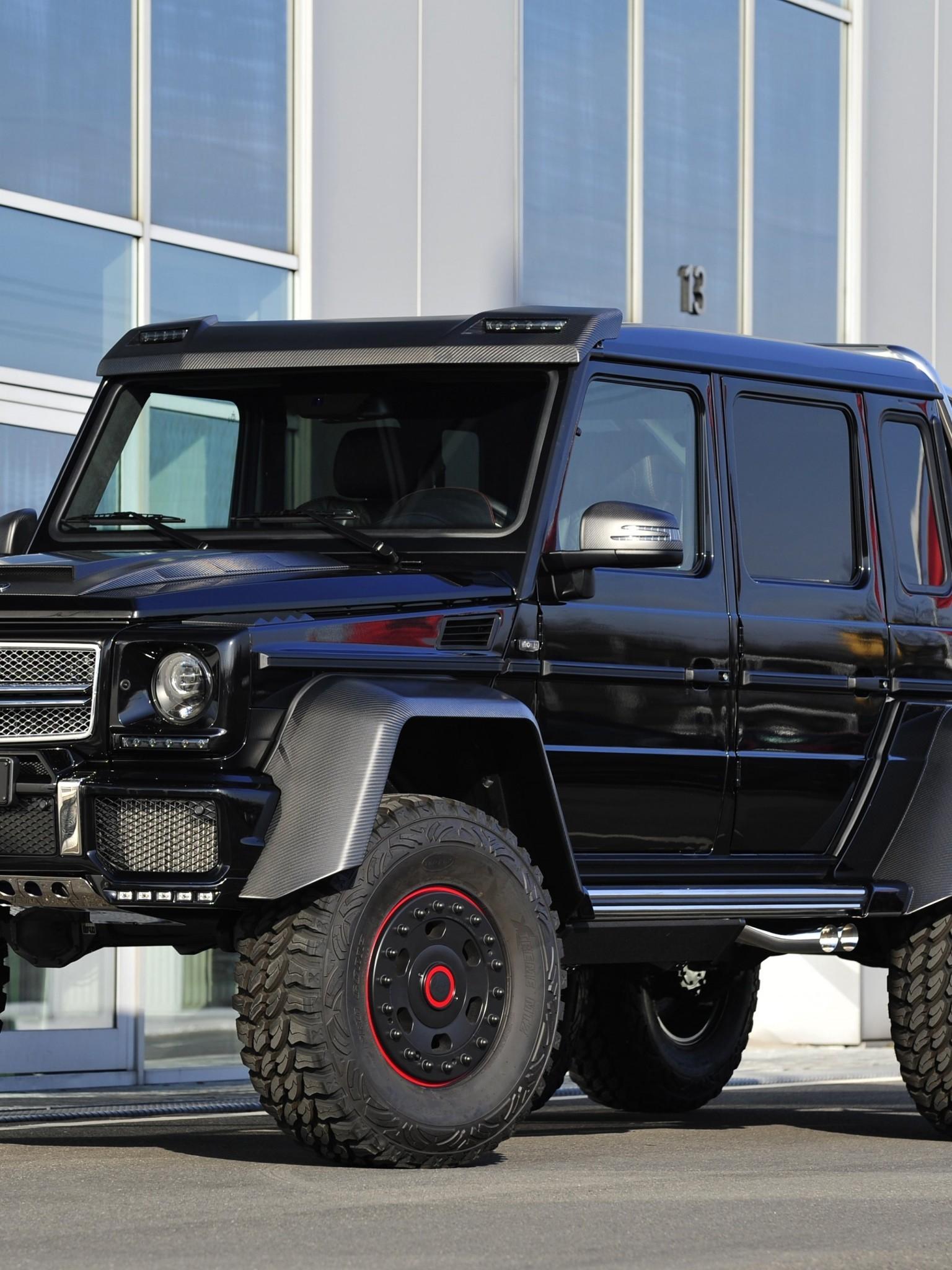 Mercedes Benz G63 Amg 6x6 Black Side View Pickup 1536x2048 Wallpaper Teahub Io