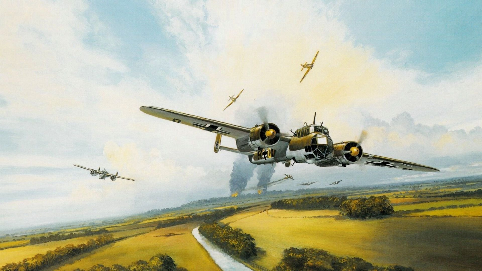 Battle Wallpapers Aircraft Games Video Plane Planes - Battle Of Britain -  1920x1080 Wallpaper - teahub.io