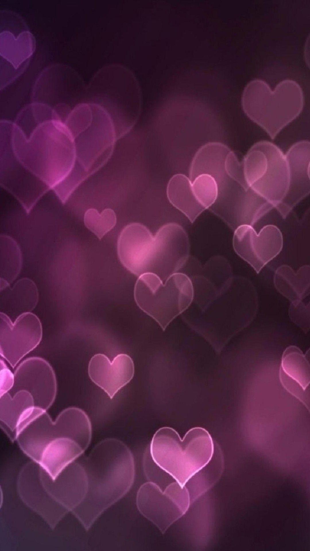 Purple Heart Girly Pink Iphone 6 Plus   Data Src - Iphone 7 Plus Wallpaper Pink - HD Wallpaper