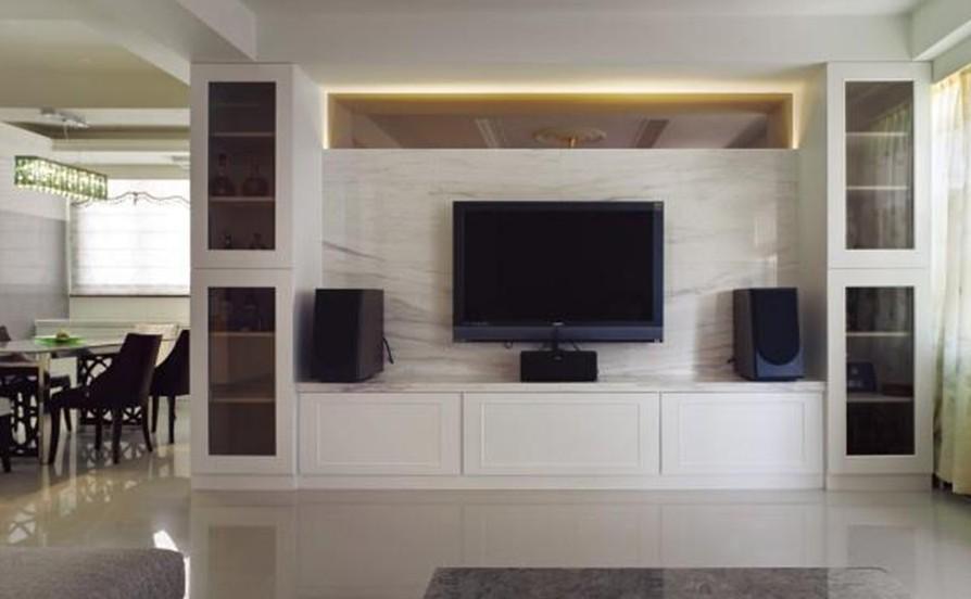 Wall Design Ideas Living Room Tv - HD Wallpaper