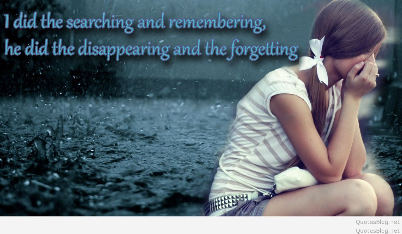 Emotional Wallpapers With Quotes - Sad Love Quotes With Images For Facebook - HD Wallpaper