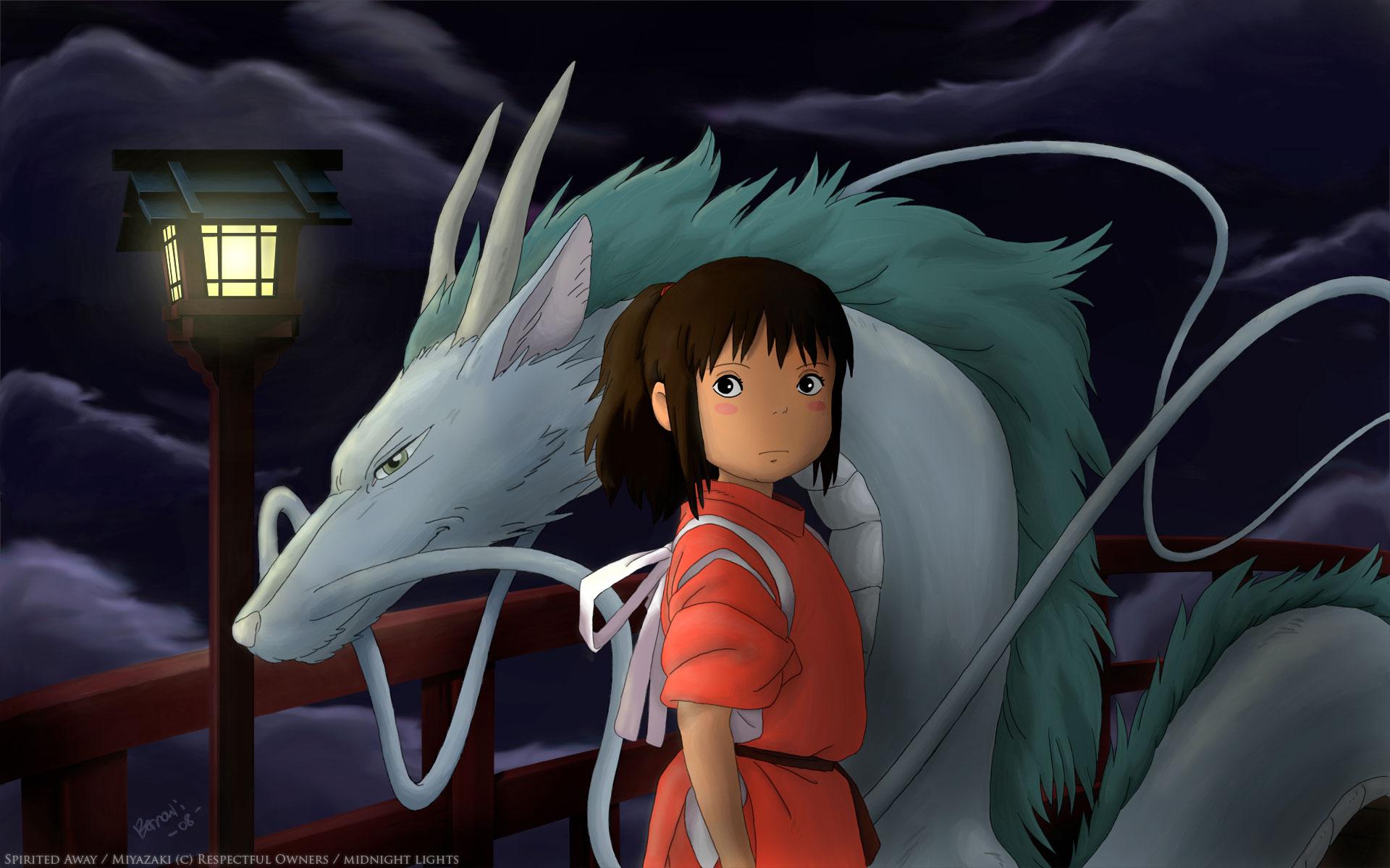 Studio Ghibli Spirited Away Chihiro Ogino Haku Wallpaper Kohaku River Spirited Away 1920x1200 Wallpaper Teahub Io