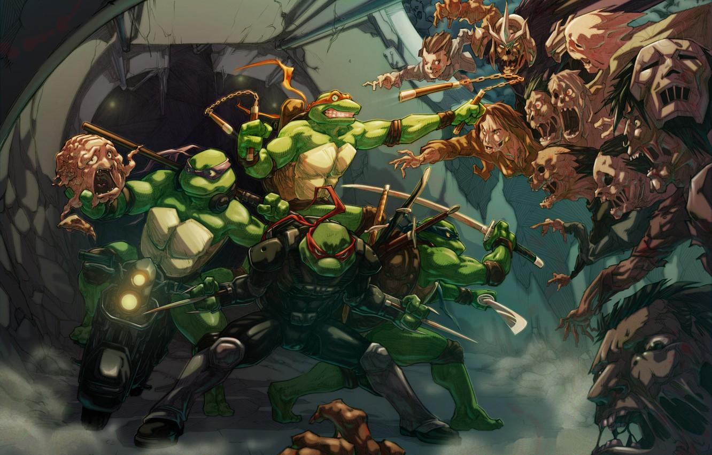 Photo Wallpaper Teenage Mutant Ninja Turtles, Tmnt, - Teenage Mutant Ninja Turtles Comic - HD Wallpaper