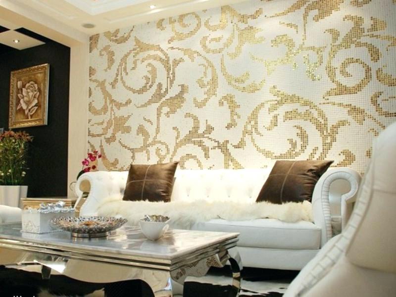 Contoh Gambar Desain Ruang Tamu Dengan Wallpaper Terkini - Elegant Wallpaper Design For Living Room - HD Wallpaper