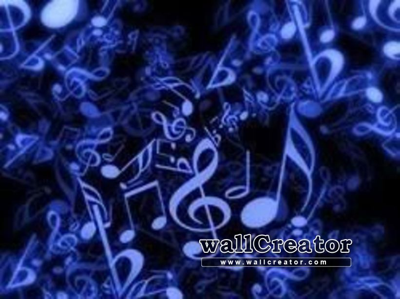 Music Is My Life - Music Notes Background - HD Wallpaper