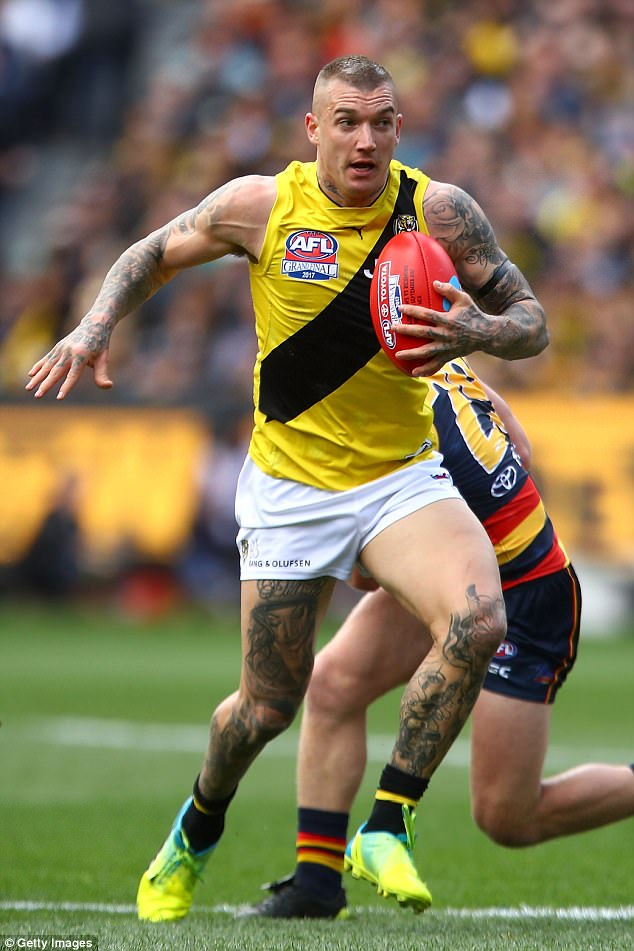 Dustin Martin Of The Tigers Wins The Ball During The Dusty Martin 2017 634x951 Wallpaper Teahub Io