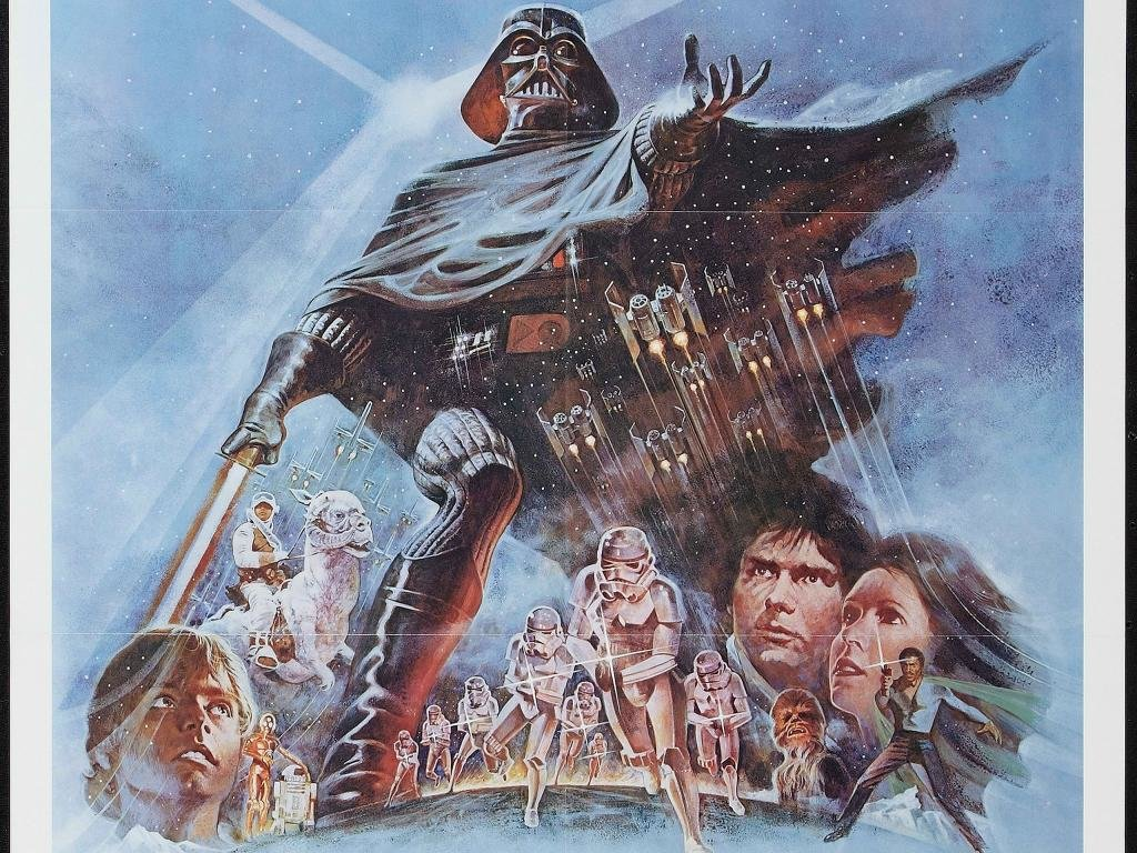 Awesome Star Wars Episode 5 Movie Poster Empire Strikes Back 1024x768 Wallpaper Teahub Io