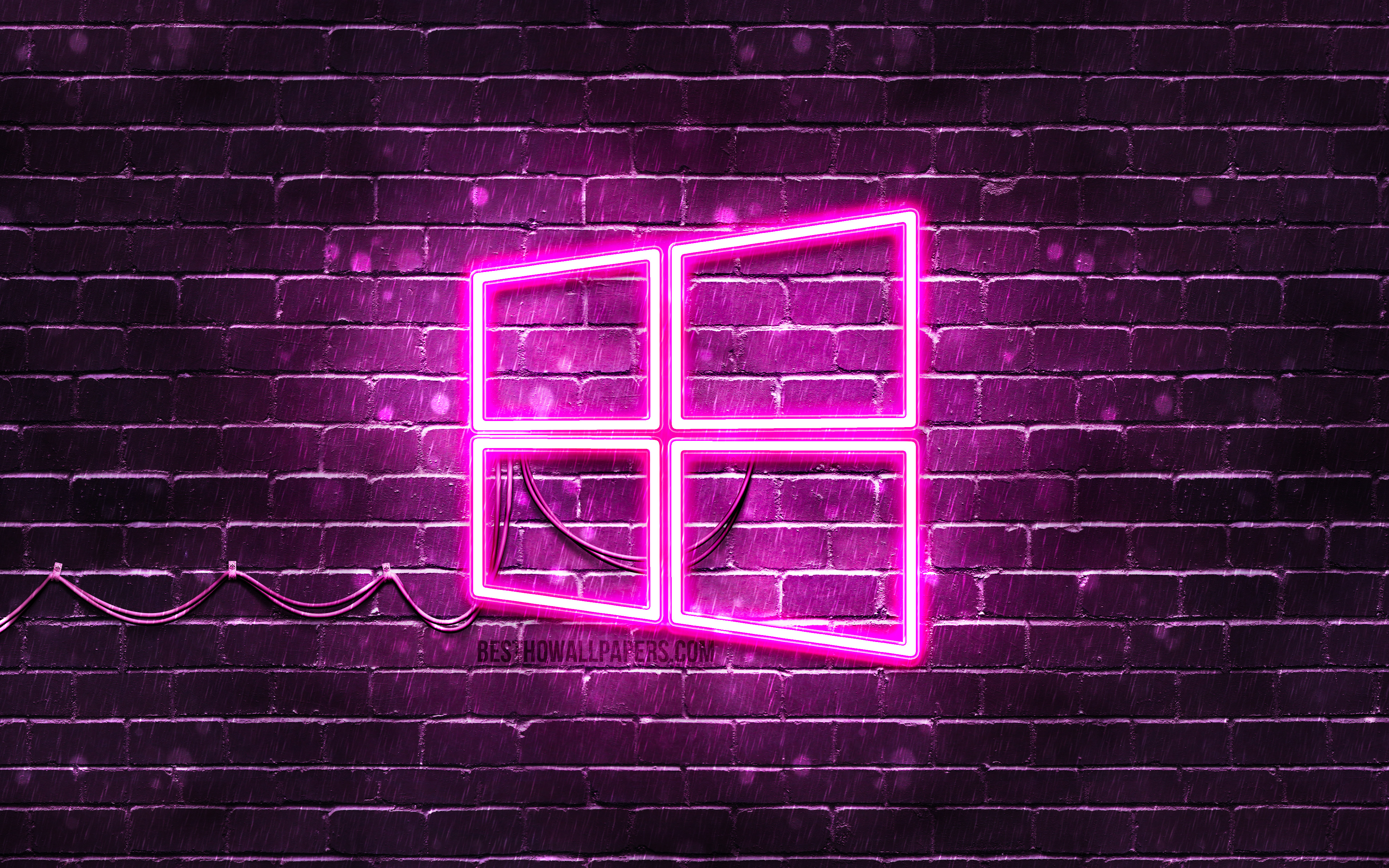 Windows 10 Purple Logo 4k Purple Brickwall Windows Martin Garrix Wallpaper 4k 3840x2400 Wallpaper Teahub Io