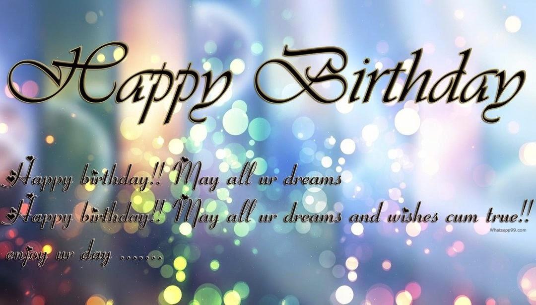 Happy Birhtday Wishes Whatsapp Status Happy Birthday - Birthday Dp For Whatsapp - HD Wallpaper