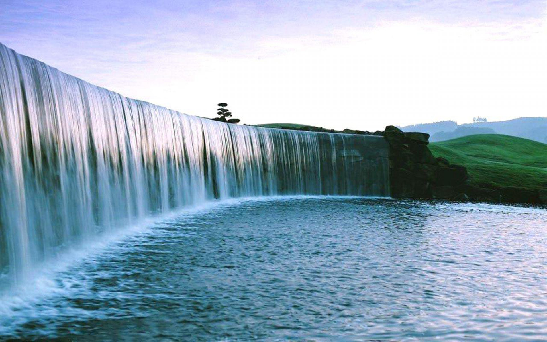 Full Screen Waterfall Wallpaper Hd Nature - HD Wallpaper