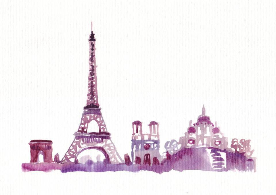 Winsorampnewton Watercolor Travel Illustration Paris - Anna And The French Kiss Art - HD Wallpaper