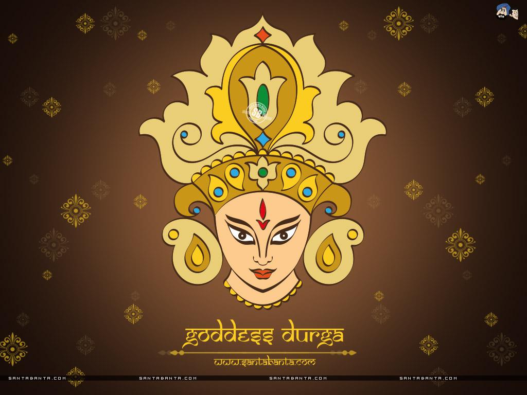 Goddess Durga - Indian Goddess - HD Wallpaper