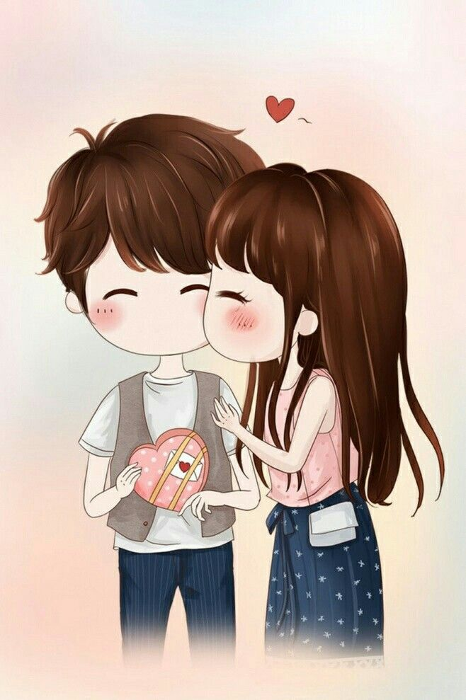 Love Cute Cartoon Couple 658x989 Wallpaper Teahub Io
