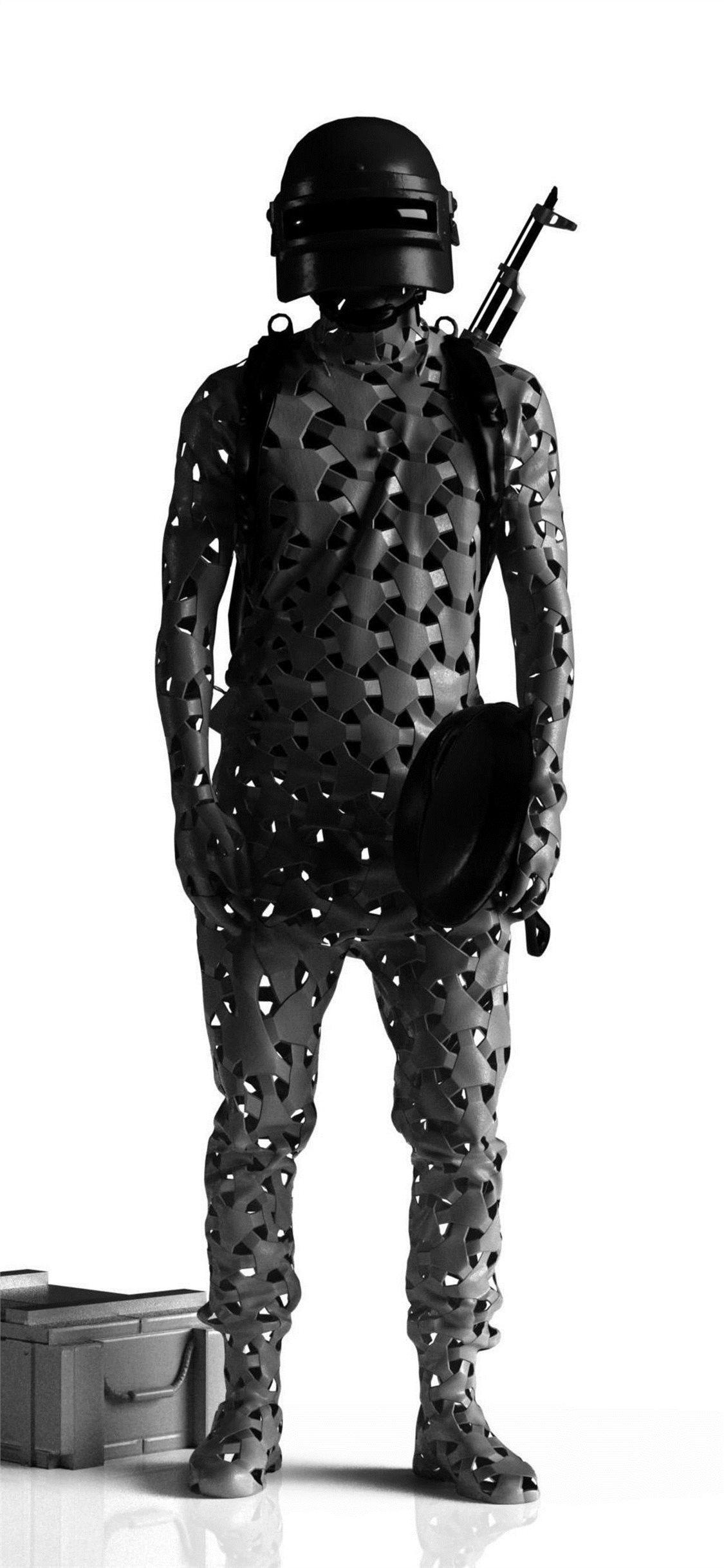 Pubg Black Wallpaper Hd 4k 1125x2436 Wallpaper Teahub Io