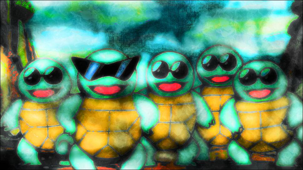 Pokemon Squirtle Squad, Pokemon First Generation, Squirtle, - Squirtle Squad - HD Wallpaper