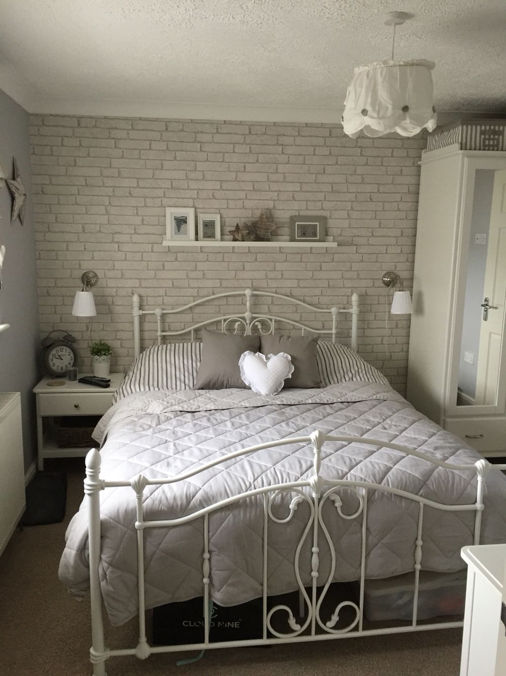 Grey Brick Wallpaper In Bedroom 1000x1334 Wallpaper Teahub Io