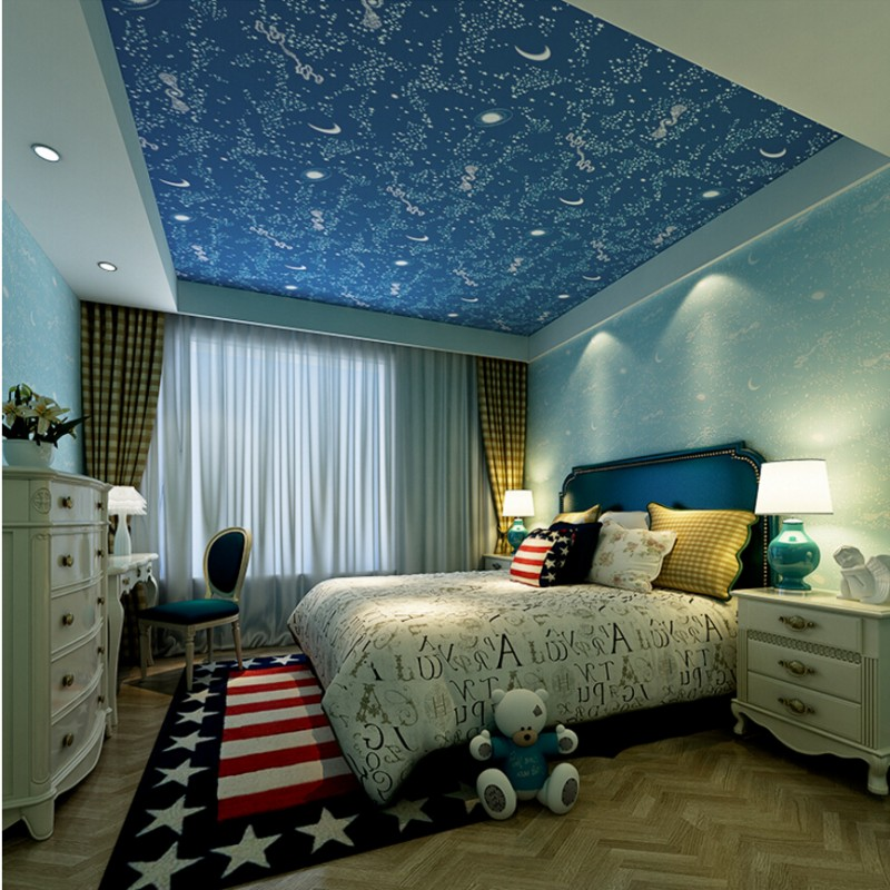 Galaxy Wallpaper For Bedroom Genuine High End Children ...