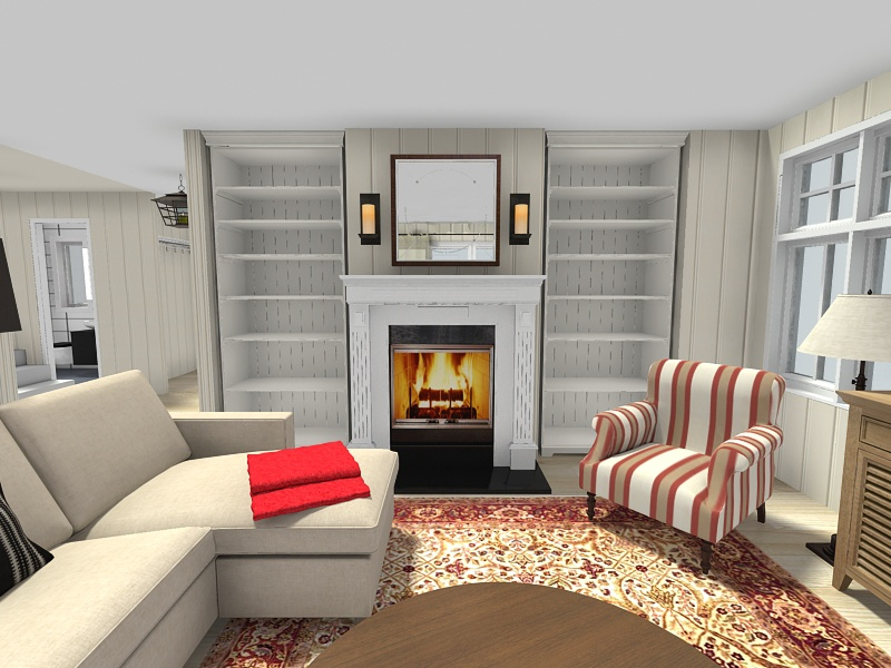 Living Room Ideas - Living Room With Fireplace Decor Ideas - HD Wallpaper