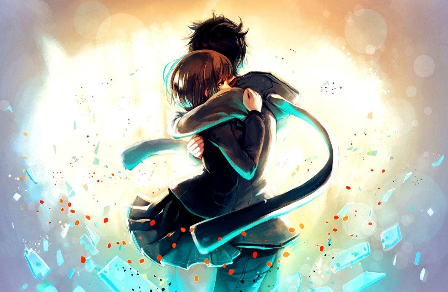 Art Couple Hug Love Happy Manga Anime Love Cute Wallpaper Couple Anime Wallpaper Hd 1512x987 Wallpaper Teahub Io