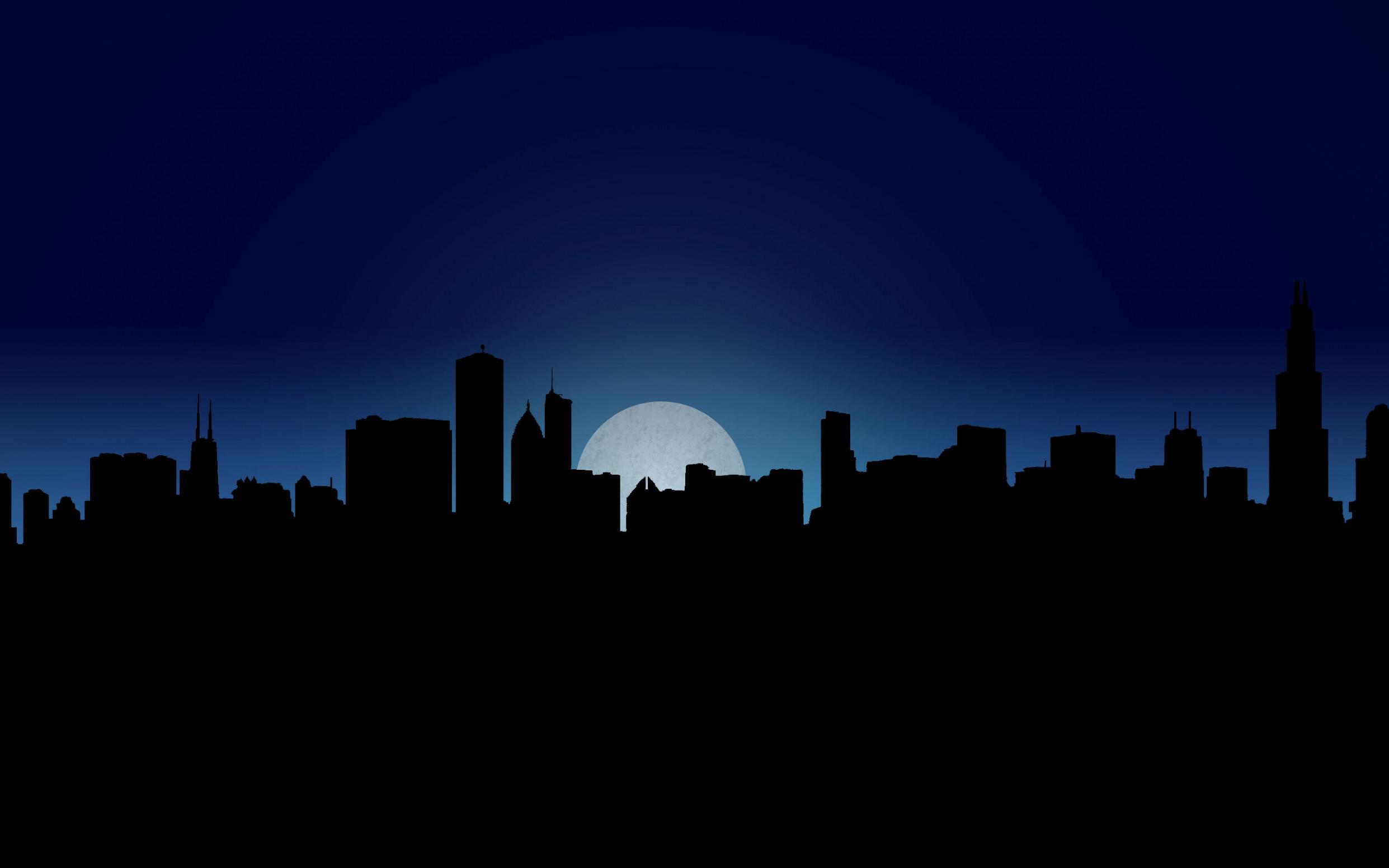 Dark City Wallpaper - Cartoon Dark City Background - HD Wallpaper
