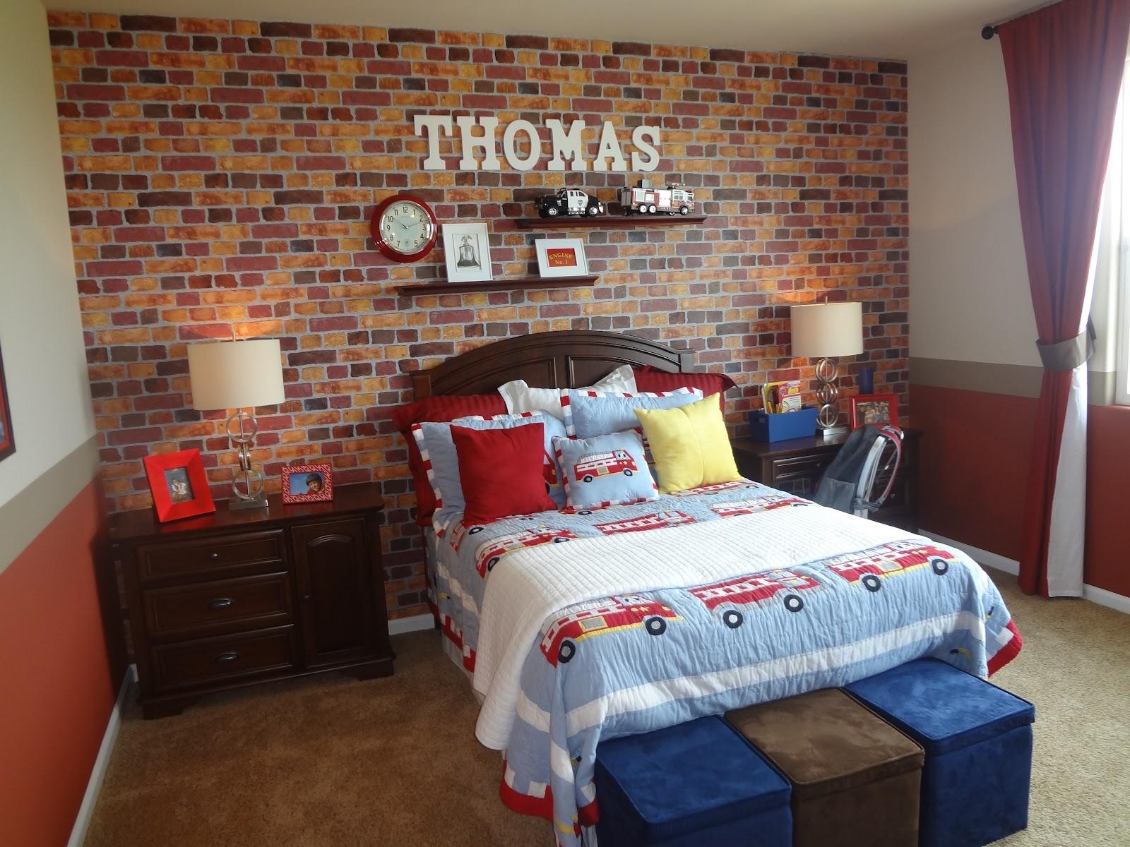 Brick Wallpaper Bedroom Ideas Home Design Ideas - Brick Wallpaper For Boys Room - HD Wallpaper