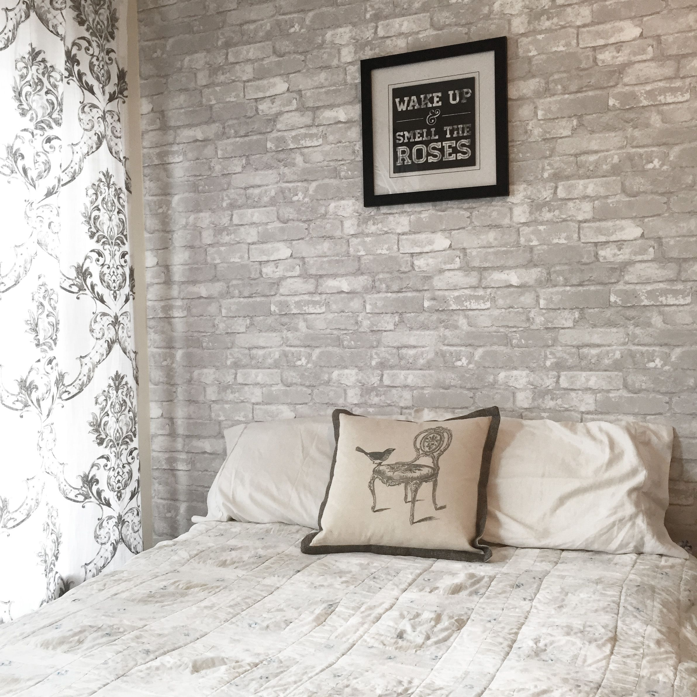 Brick Feature Wall Bedroom - HD Wallpaper