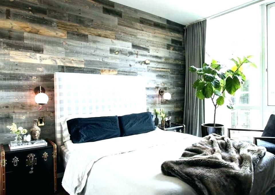 Wood Tile Accent Wall Bedroom - HD Wallpaper