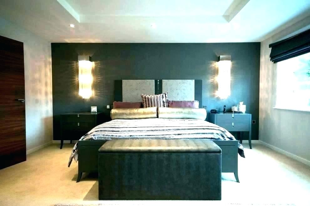 Master Bedroom Wallpaper Feature Wall Wallpaper For - Bedroom Wall Lights Ideas - HD Wallpaper