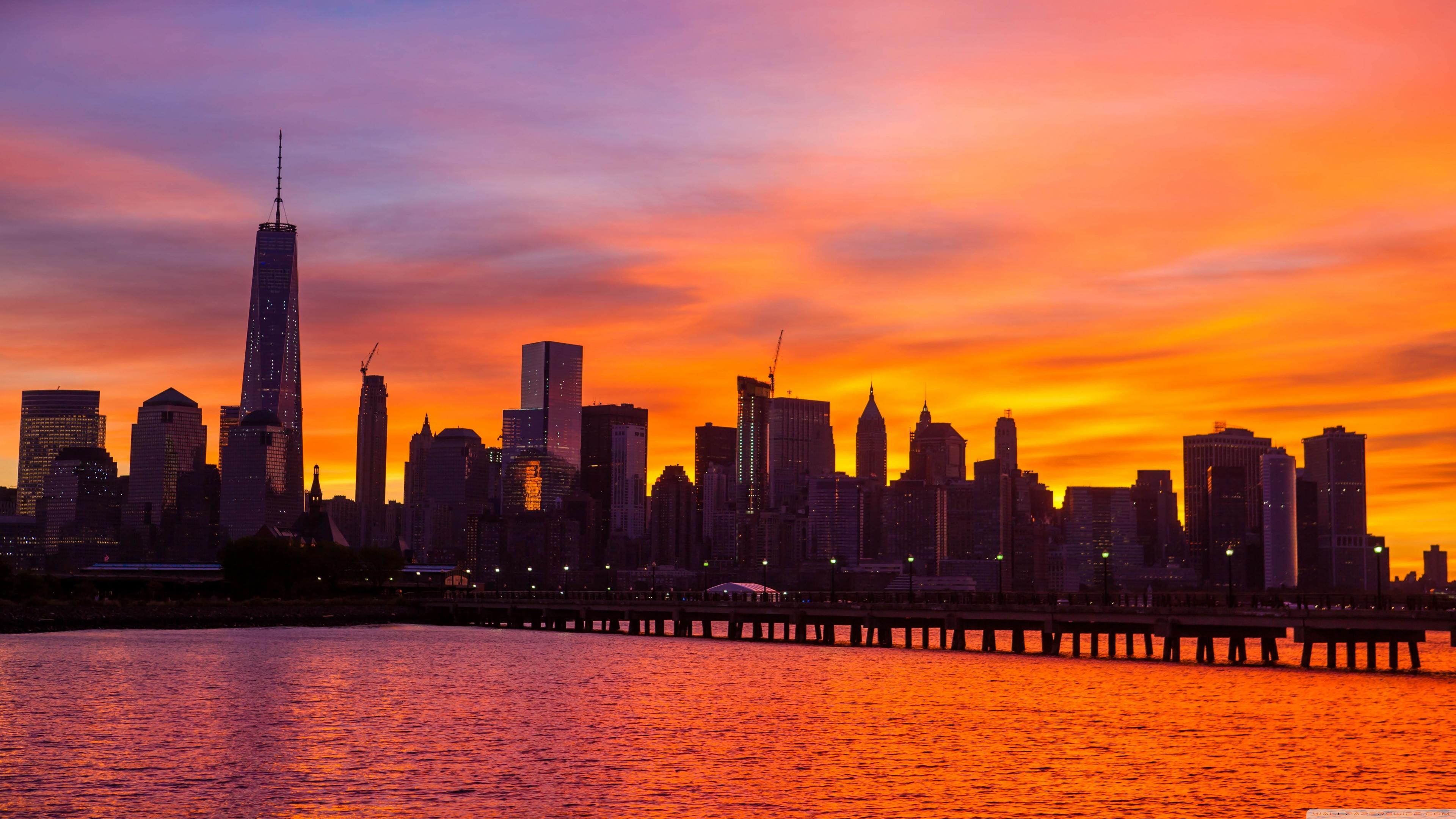 38 384867 new york skyline wallpaper 4k