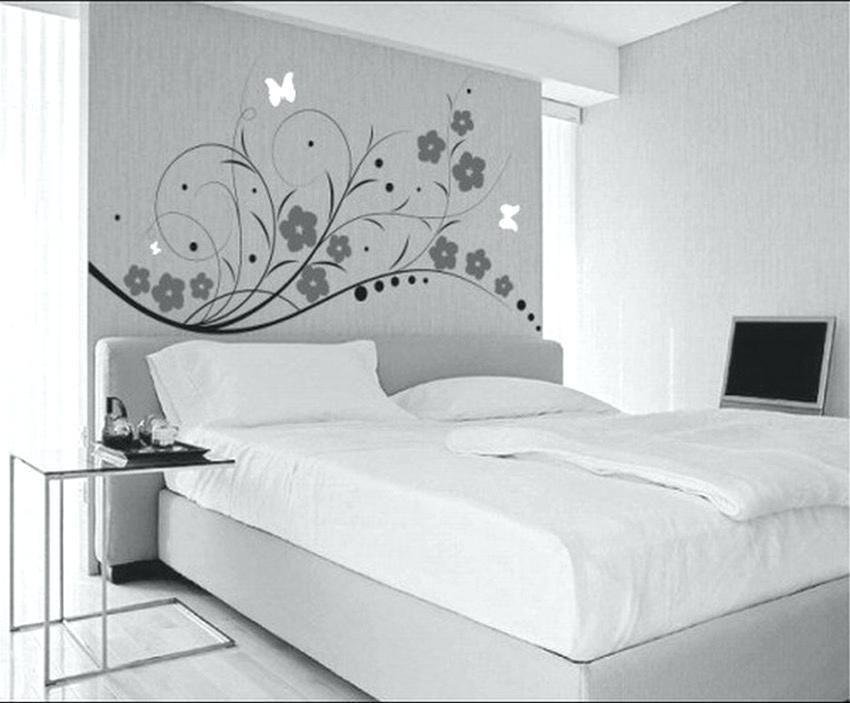 Bed Wallpaper Bedroom Medium Size Modern Bedroom Feature - House Wall Paints Designs - HD Wallpaper