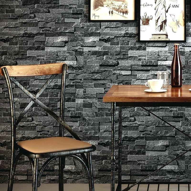 3d Brick Wall Wallpaper Retro Nostalgic Effect Brick - Living Room Gray Brick Wall - HD Wallpaper