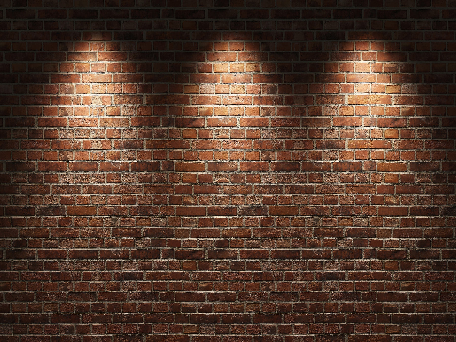 Brick Wall With Spotlight - Man Cave Brick Wall - HD Wallpaper