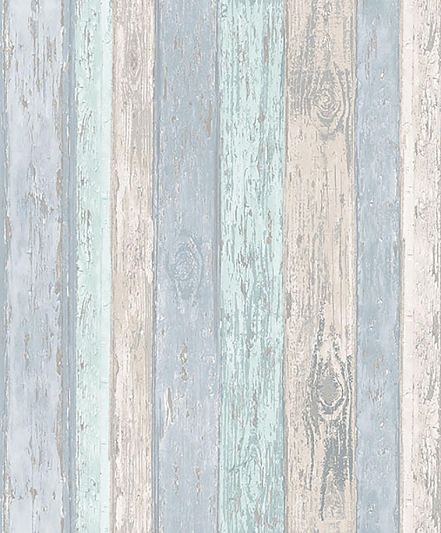 Wood Effect Wall Paper Blue - HD Wallpaper