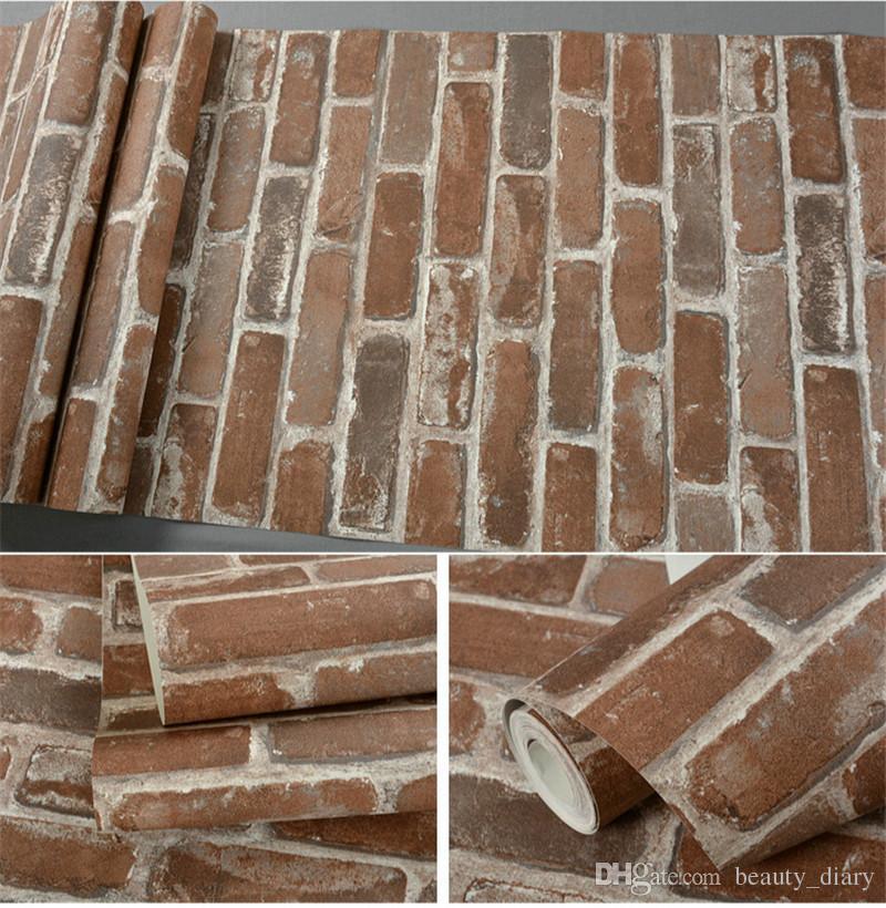 Faux Brick Wall Paper - HD Wallpaper
