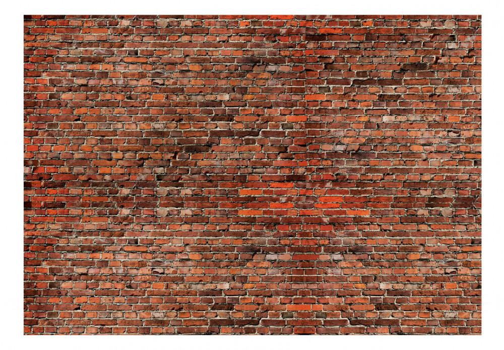 Wall Mural Red Brick 106841 Additionalimage - Drawing Brick Wall - HD Wallpaper