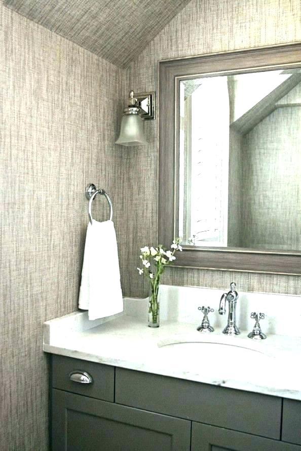 Grasscloth Silver Wallpaper Bathroom, Vinyl Bathroom Wallpaper