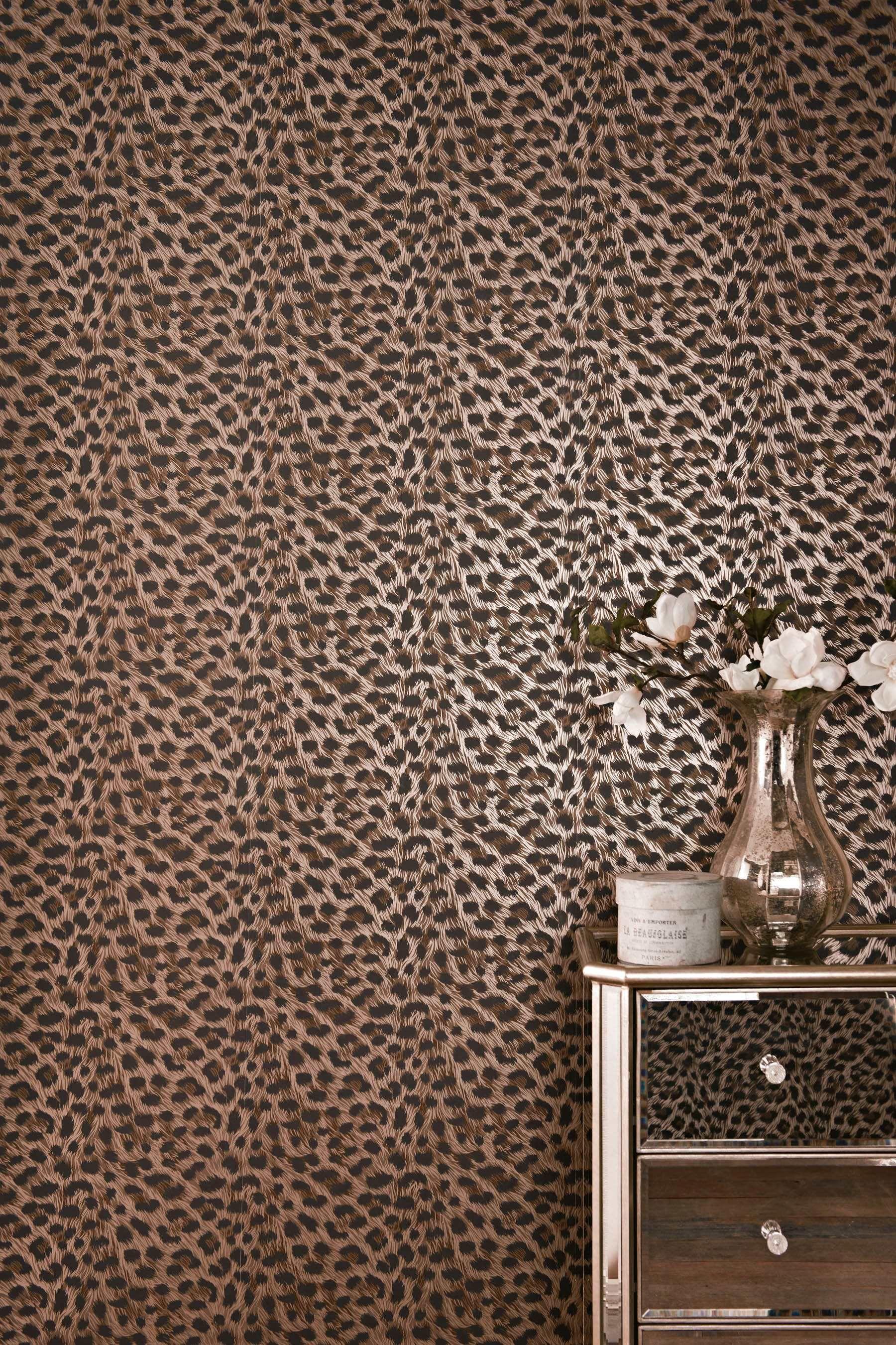 Wallpaper Wednesday Leopard Print Wallpaper From Next - Cheetah