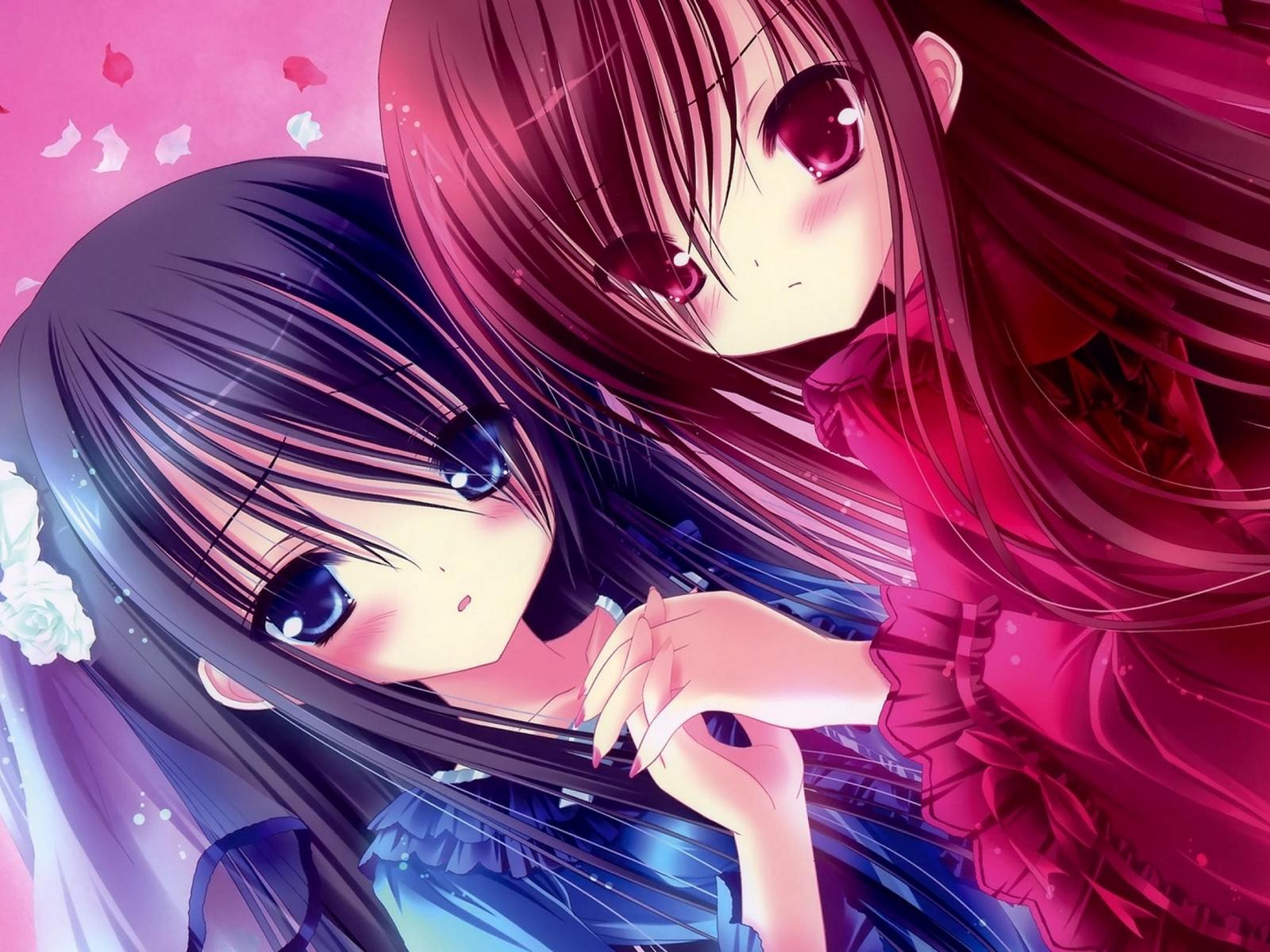 Wallpaper Kawaii, Anime, Girl, Friend, Person - Kawaii Wallpaper Anime Girl - HD Wallpaper