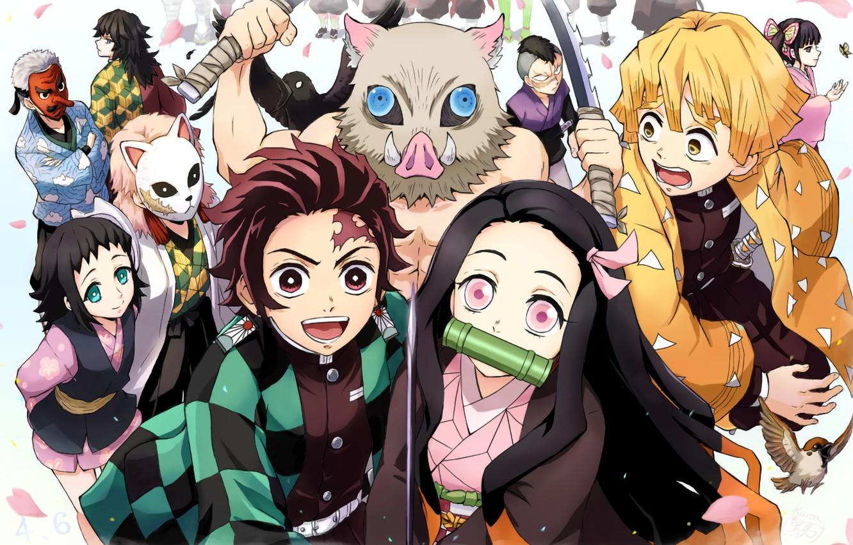 Photo Wallpaper Creatures, Characters, Demon Slayer - Kimetsu No Yaiba Wallpaper 4k - HD Wallpaper