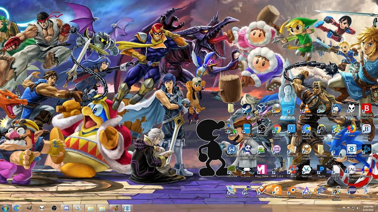Super Mario Smash Bros Ultimate - HD Wallpaper