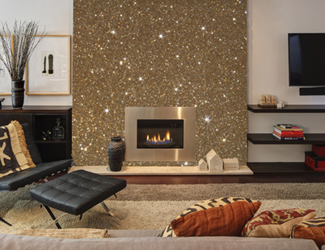 All That Glitters Sparkling Wall Paint And Grout Adhesives - Gold Glitter Wall Paint - HD Wallpaper