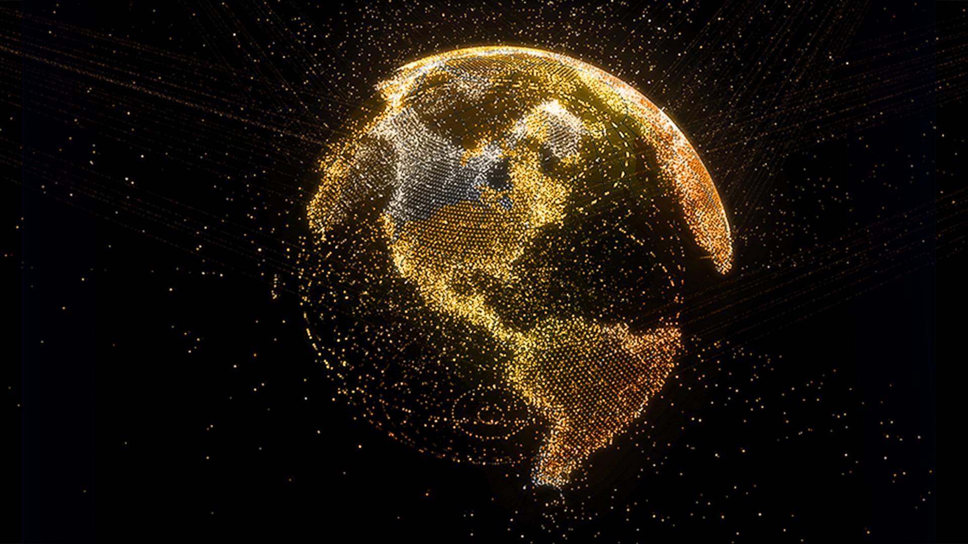 1920x1080 Earth Wallpaper Planet Earth Lights Night 1920x1080 Wallpaper Teahub Io
