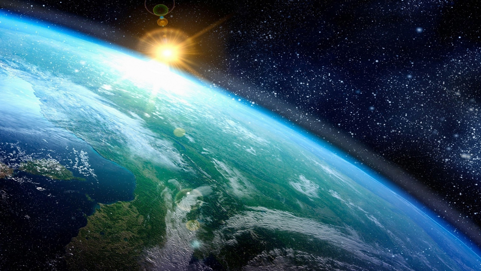 Earth Outer Space From Earth 1600x900 Wallpaper Teahub Io