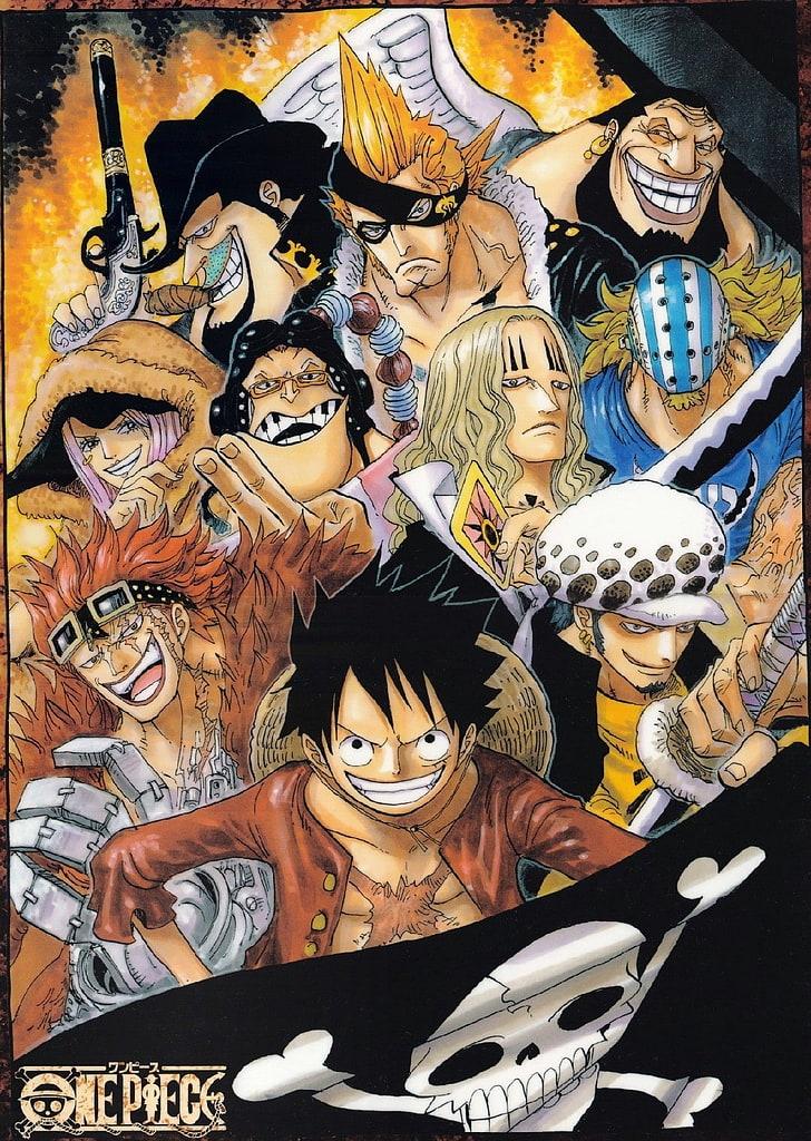 One Piece Luffy Supernova Trafalgar Law Anime One Piece - Once Supernovas One Piece - HD Wallpaper