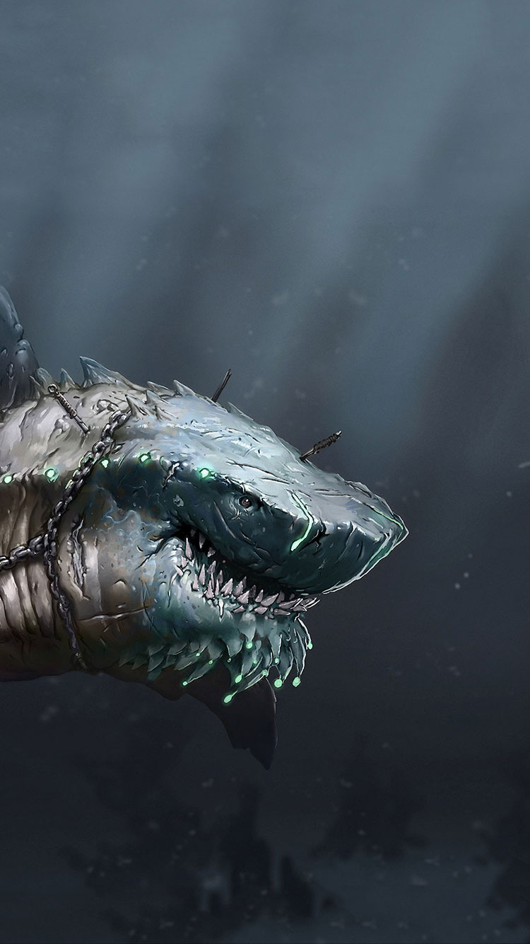 Cool Wallpaper For Iphone Mariana Trench Megalodon Tooth 750x1334 Wallpaper Teahub Io