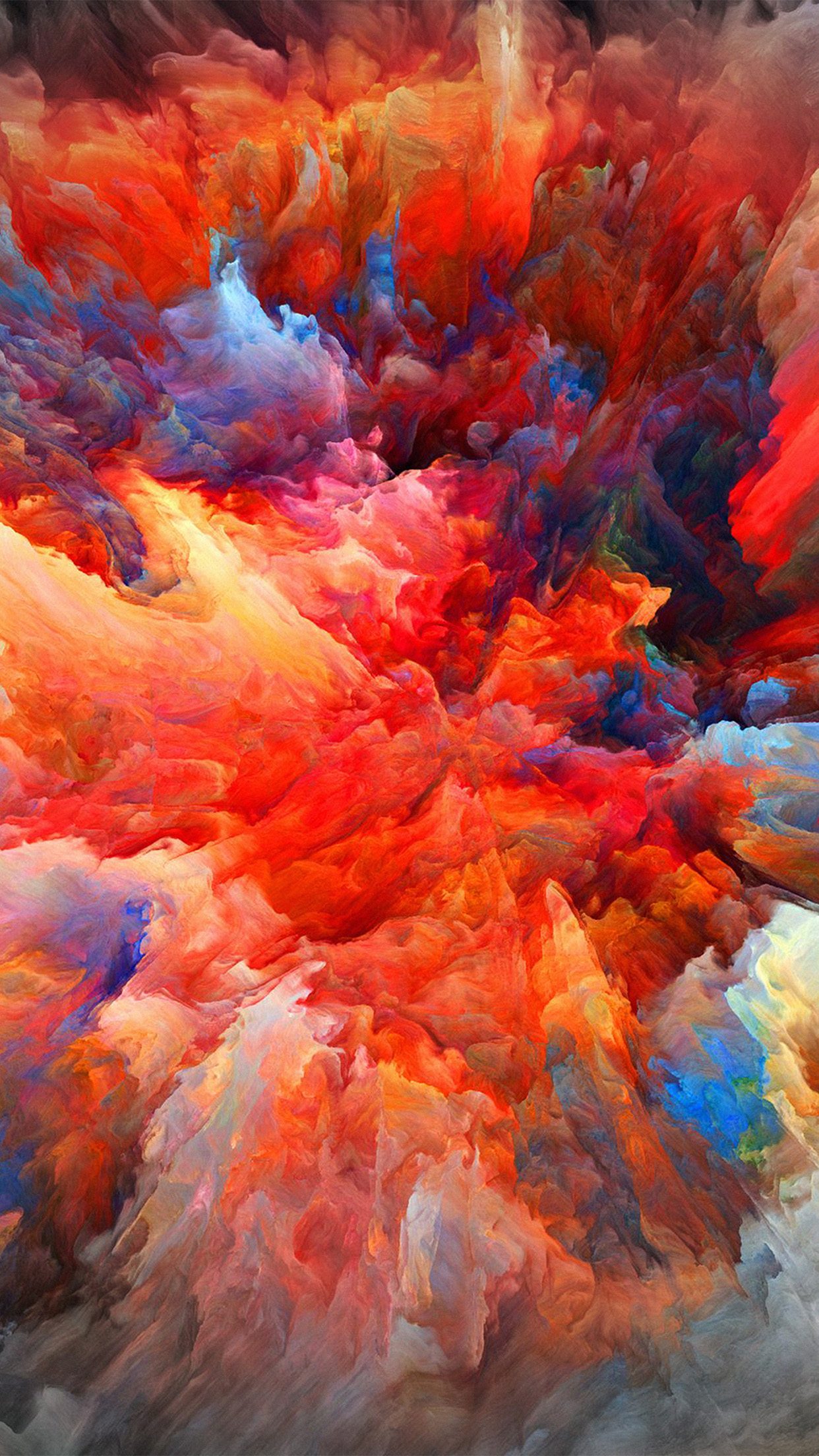 Color Explosion Red Paint Pattern Android Wallpaper - Color Wallpaper Iphone - HD Wallpaper
