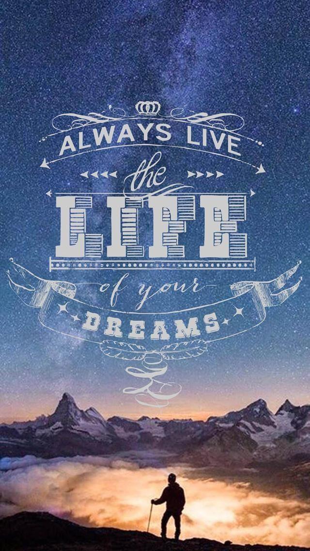 Life Iphone Quotes Wallpaper Hd - HD Wallpaper