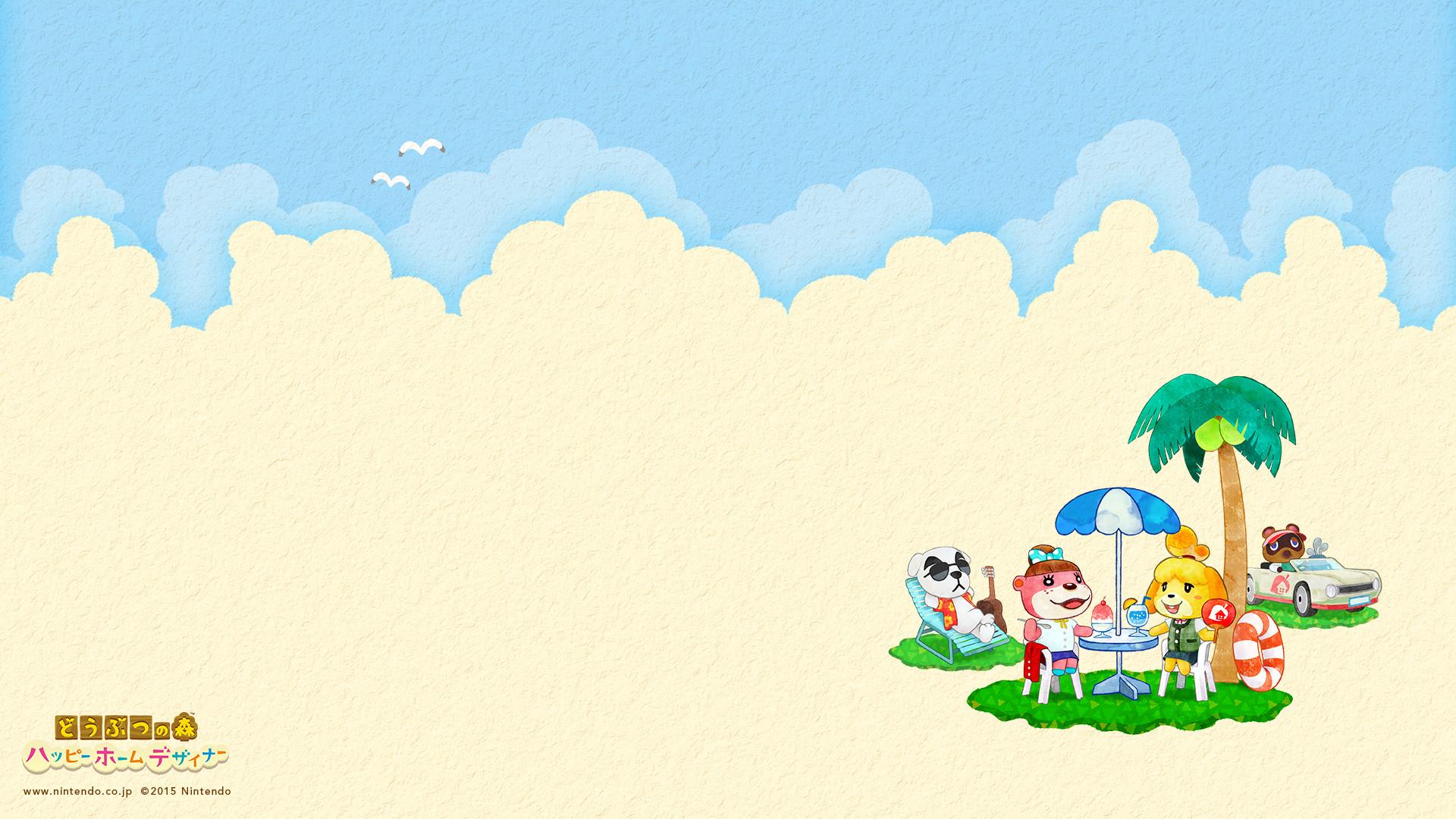 Happy Home Designer Summer Desktop Wallpaper - Animal Crossing Desktop Background - HD Wallpaper
