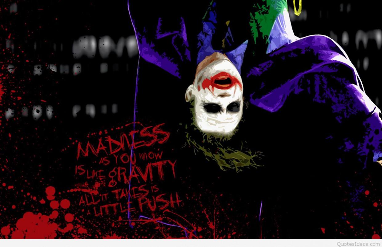 Joker Hd Pics With Quotes Joker Wallpaper Hd Quotes 1241x802 Wallpaper Teahub Io